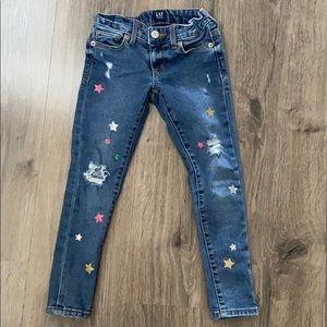Girls GAP glitter star jeans